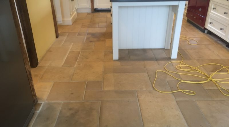 Delicieux Cleaning And Polishing A Dull Limestone Kitchen Floor Tiles ...