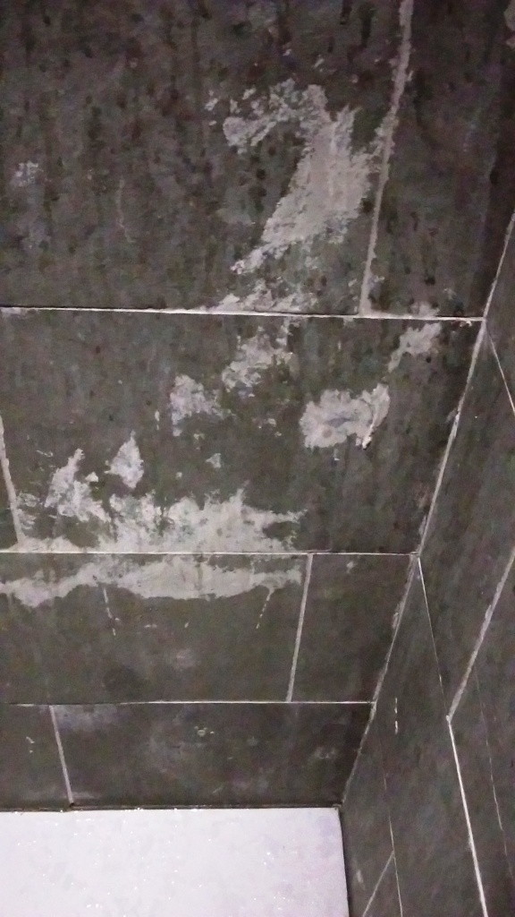 Grout Haze From Slate Shower Wall Tiles