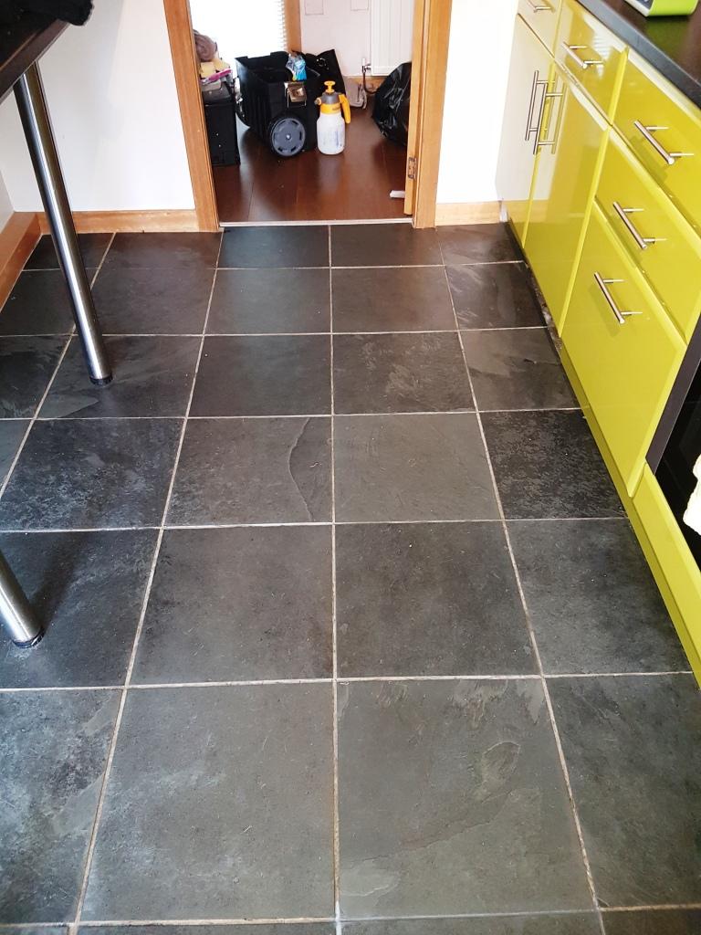 Rejuvenating A Slate Tiled Kitchen Floor Tiling Tips And