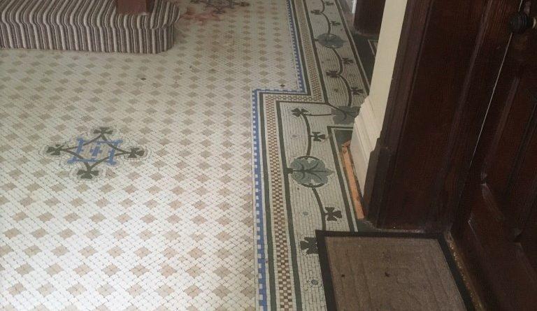 Restoring Victorian Mosaic Hallway Tiles Near Blackpool Tiling