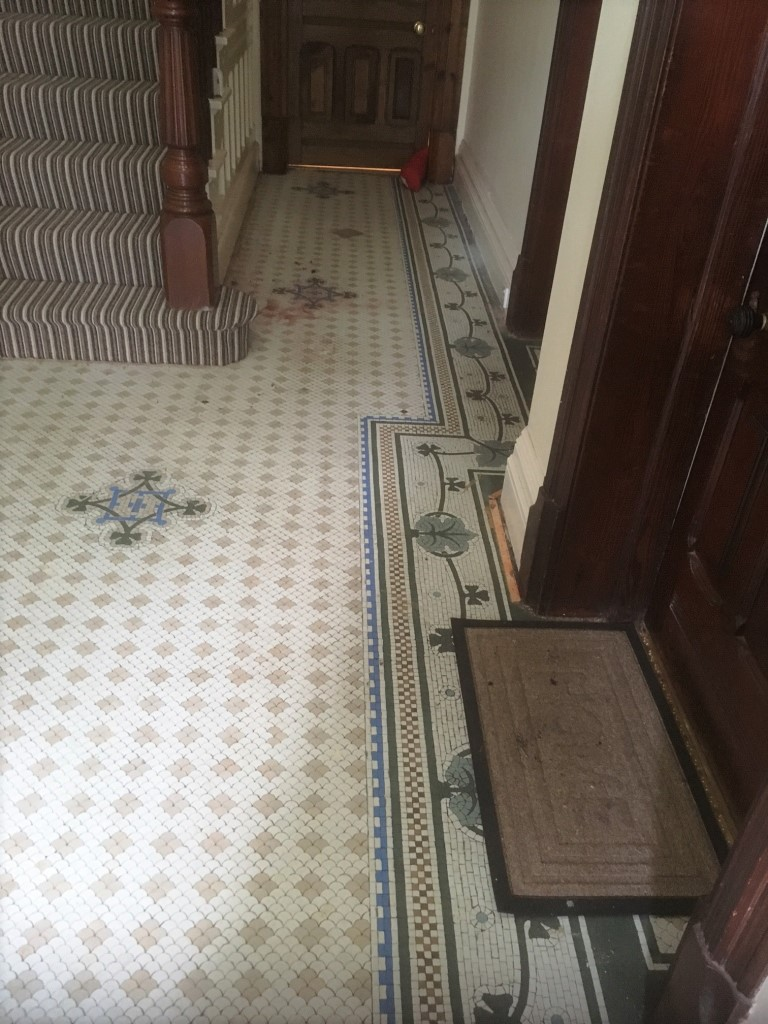 Restoring Victorian Mosaic Hallway Tiles Near Blackpool Tiling