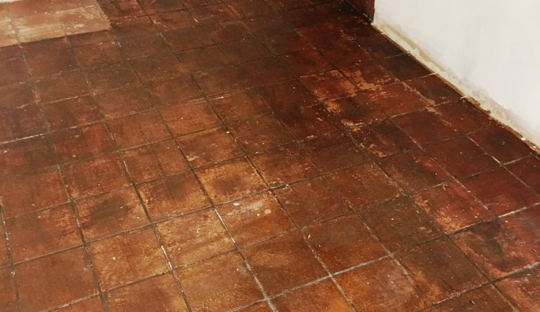 Deep Cleaning Very Dirty Kitchen Quarry Tiles In Rotherfield