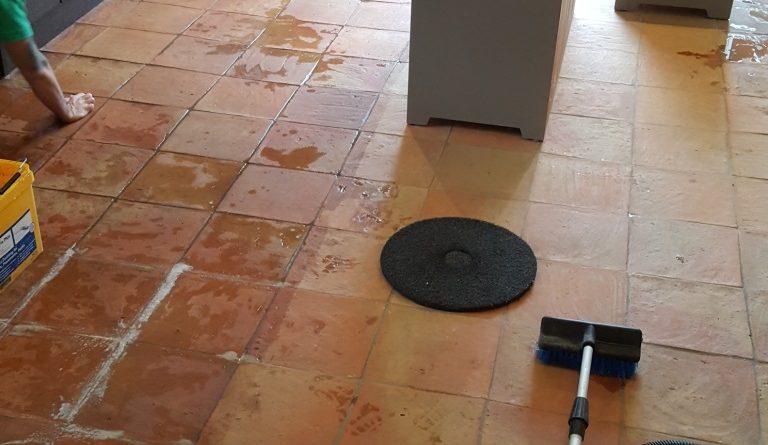 Sealing Porous Spanish Terracotta Tiles In Alderley Edge Tiling