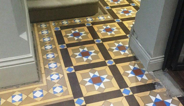 Restoring An Original Victorian Tiled Hallway Floor In Leighton