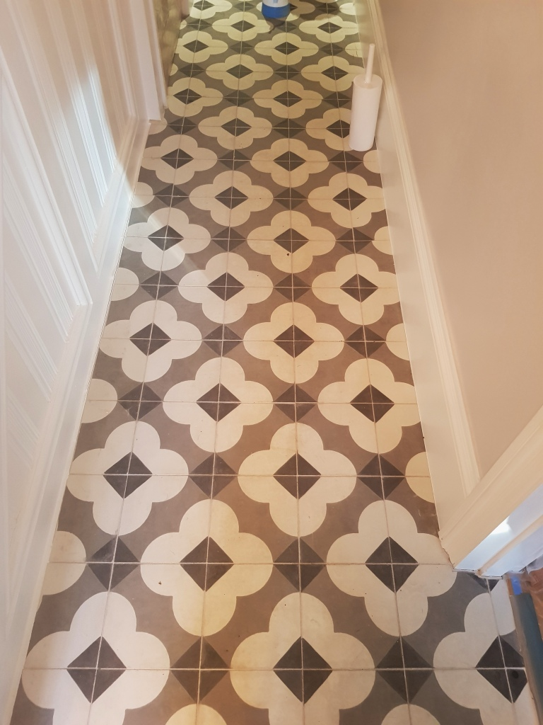 Restoring The Appearance Of Dull Encaustic Hallway Tiles In - Tiles-for-the-hallway