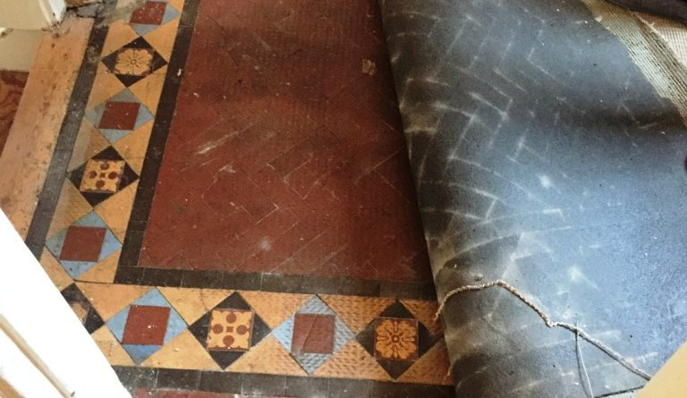 Classic Edwardian Tiled Hallway Floor Restored In Muswell Hill