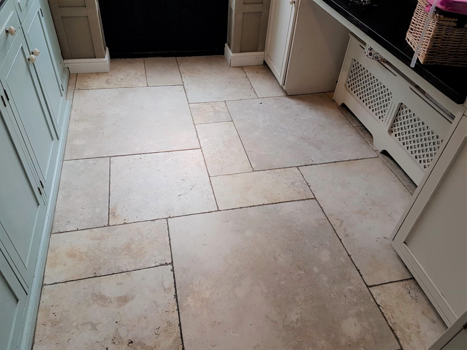 Renovating Polished Limestone Floor Tiles in a Beaconsfield ...