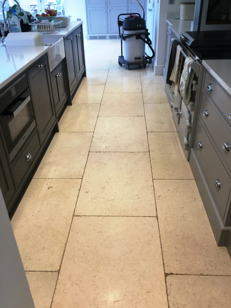 Superieur Removing Grout Haze From Limestone Kitchen Floor Tiles In ...